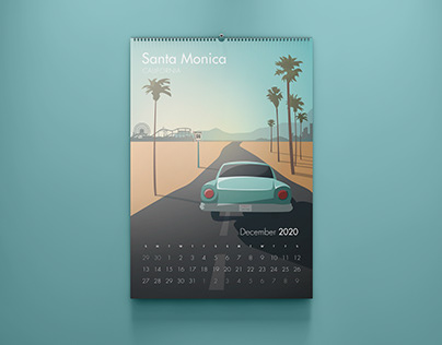 Illustrated Route 66 Calendar
