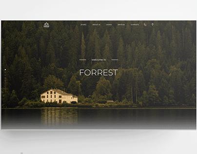 Resort (Forrest) landing page concept
