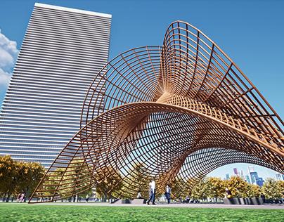 Catalan's minimal surface (Pavilion concept)