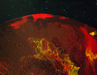 """""""Arrival to the Mars"""" 30x40, acrylic on canvas"""