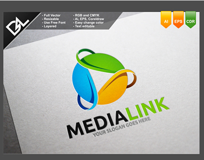 Media Link Logo Template