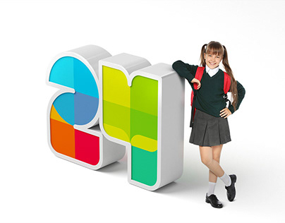 Logo and identity for school №24