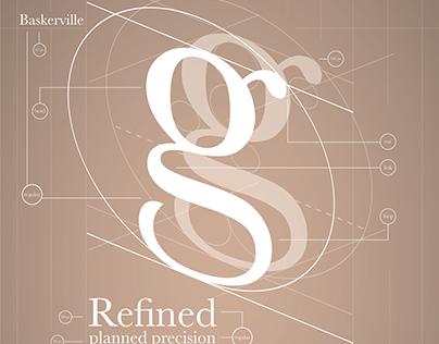 Typeface Poster: Baskerville