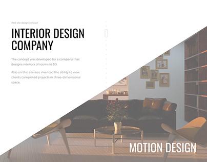 3d interior web design concept