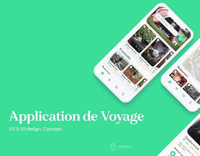 Application de voyage
