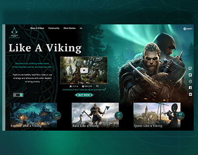 Assassin's Creed Valhalla Web Design