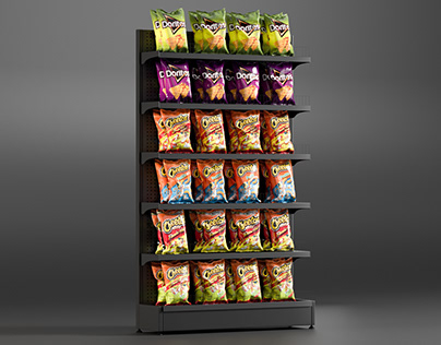Realistic 3D model of Chips Shelving