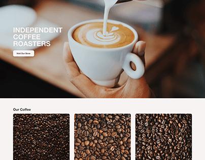 ROASTED Website Concept