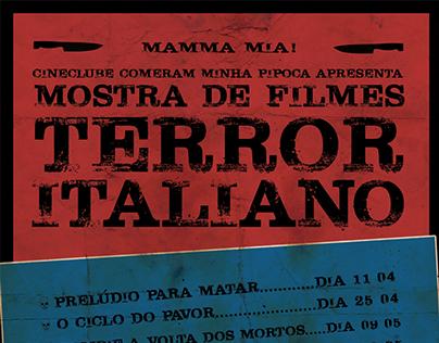 Cartaz Mostra Terror Italiano Cineclube CMP