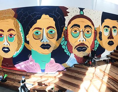 Afrofuturist Mural - Berkeley Art Museum