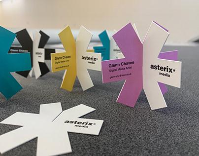 Creative Asterisk business cards