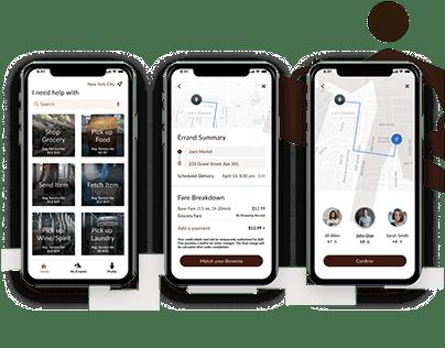 UX/UI Design of an Errand-Running App