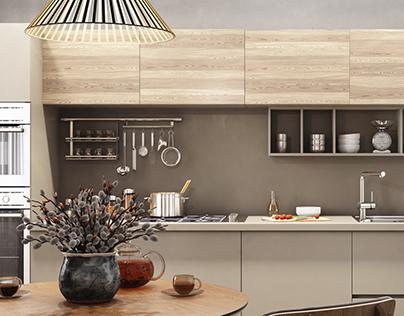 Modern kitchen interior by MUZA Design