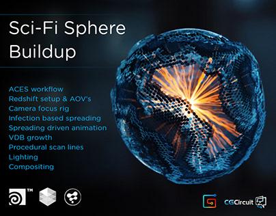 Houdini Tutorial - Procedural Sci-Fi Sphere Buildup