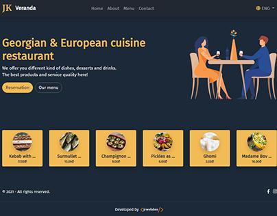 Georgian & European cuisine restaurant web design