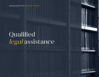 Redesign project for the lawyer's website