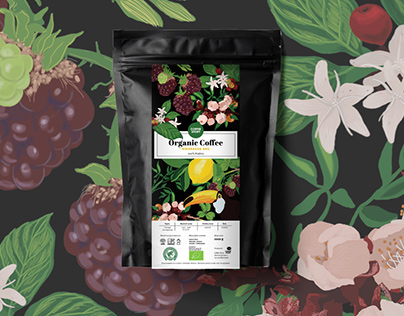 ORGANIC COFFEE PACKAGE DESIGN
