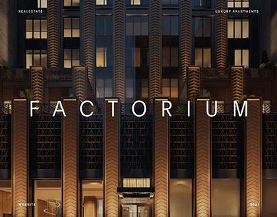 Factorium Luxury Apartments Website Design