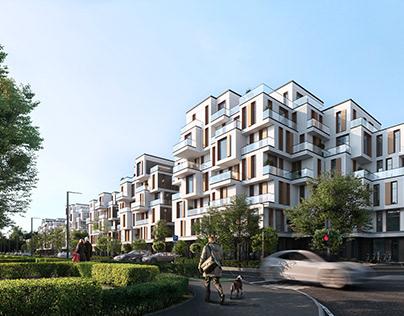Residential building project (Mariupol, Ukraine)