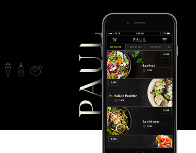 Paul bakery delivery - UX & UI redesign