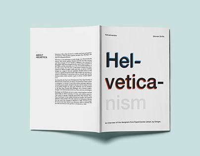 Helveticanism - Book Design