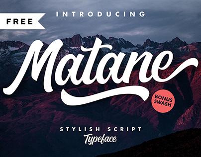 Free | Matane Typeface