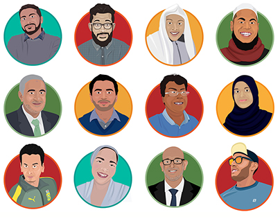 Conference Speaker Profile Illustrations