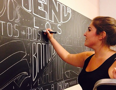 LETTERING on blackboard - The Kitchen
