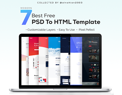 7 Best Free PSD to HTML Templates Collection