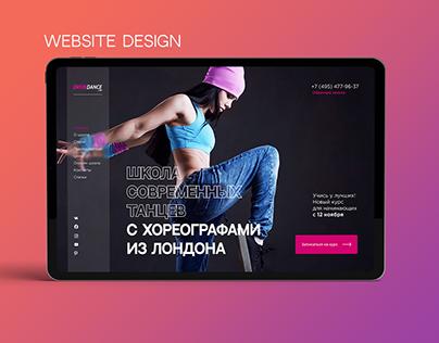 Dancing school website | UI/UX design