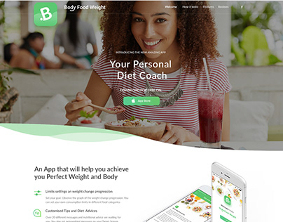 Landing page for Body Food Weight
