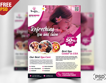 Spa Wellness Flyer Design PSD