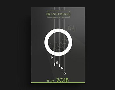 Poster Design for Bras de Freres bar (2017)