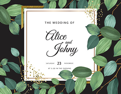 Elegant greenly Wedding Cards collection