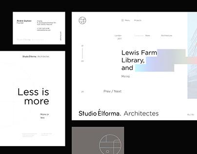 Studio Elforma. Architectes