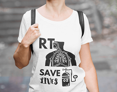 Respiratory Therapist (RT) save lives t-shirt