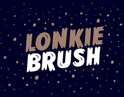 Lonkie Brush - Handwriting typeface