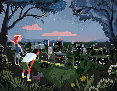 Täby Park Housing Project illustrations