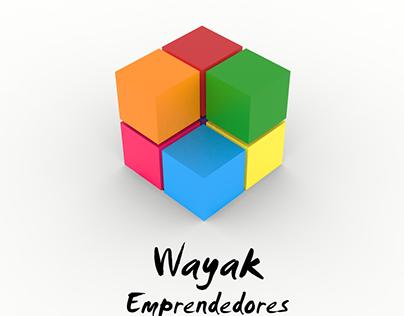 Logotipo 3D Wayak Emprendedores