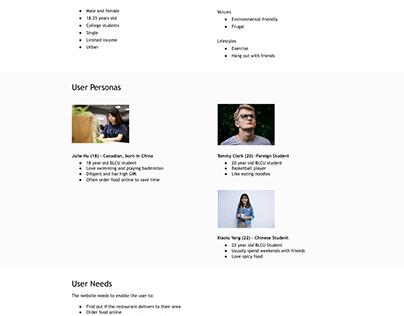 UI/UX Project CuteNoodle