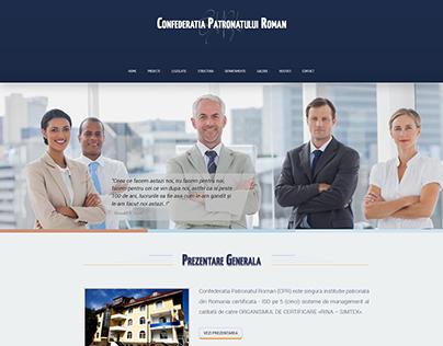 Romanian Patronage Confederation - web design interface