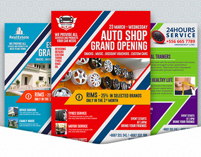 Grand Opening Business Flyer Template
