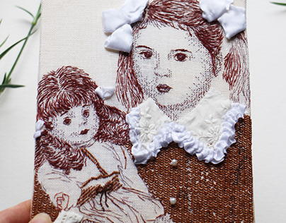 Portrait of Childhood / Hand Embroidery