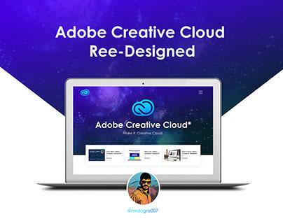 Adobe Creative Cloud - Landing Page @mrdogra007