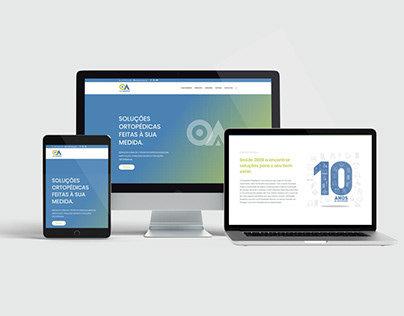 Apresentação do site institucional da ORTOADAPTA.PT
