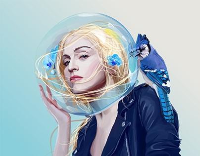 True Blue (Madonna album cover)
