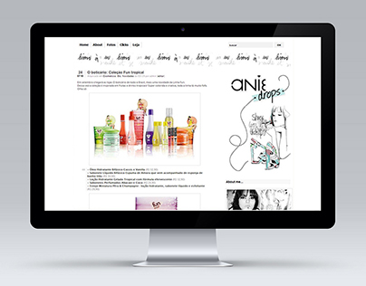 Layout for Blog AnieDrops | Graphic Design