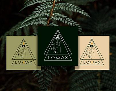 Логотип для магазина свечей ручной работы LOWAX