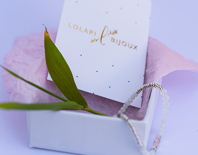 Lolapi Bijoux - Brand design identity - Web design