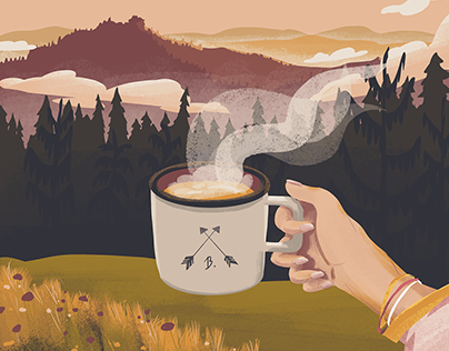 Mountain Tea Illustration
